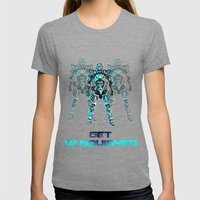 Get Vanquished! Womens Fitted Tee Tri-Grey SMALL