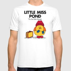 Little Miss Pond Mens Fitted Tee SMALL White