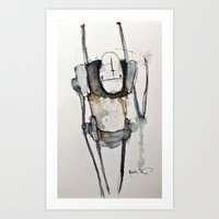 robot Art Prints featuring Robot by matthewkocanda