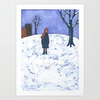 Snowy Day In Brooklyn Art Print