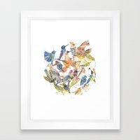 Bird Circle Framed Art Print