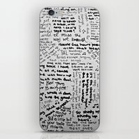 Song Lyrics iPhone & iPod Skin