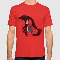 Taming Of The Wolf Mens Fitted Tee Red SMALL