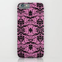 Black Damask and Pink Glitters iPhone 6 Slim Case