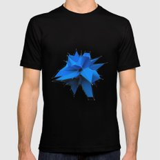 Blue Polygon Mens Fitted Tee Black SMALL