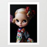 GEISHA BLYTHE DOLL KENNE… Art Print