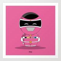 ChibizPop: I.S. Pink Art Print