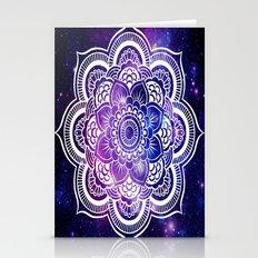 Mandala purple blue galaxy space Stationery Cards