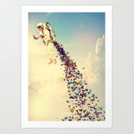 Art Print featuring Leave It All Behind by Rubbishmonkey