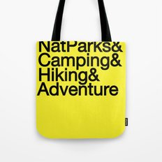 National Parks & Hiking & Camping & Adventure Tote Bag
