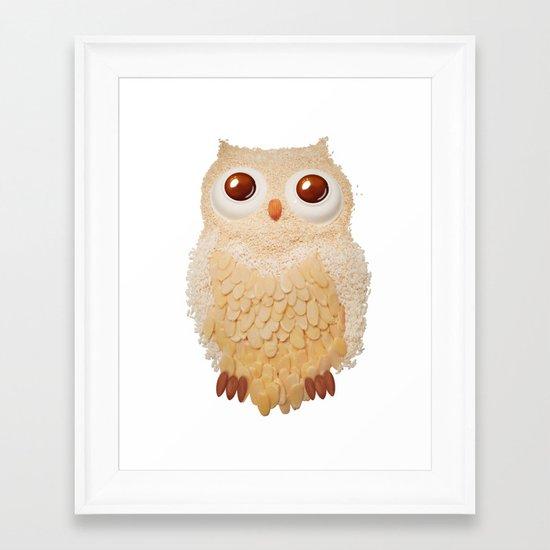 Owl Collage #5 Framed Art Print
