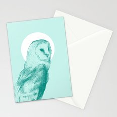 Wise Blue Owl Stationery Cards