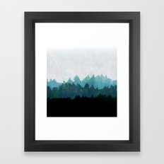 Woods Abstract  Framed Art Print