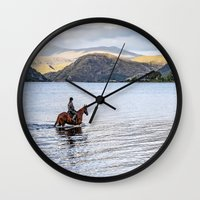 Horse at Airds Bay Loch Etive Wall Clock