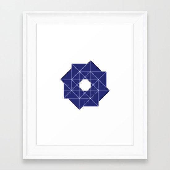#387 Cyclone – Geometry Daily Framed Art Print