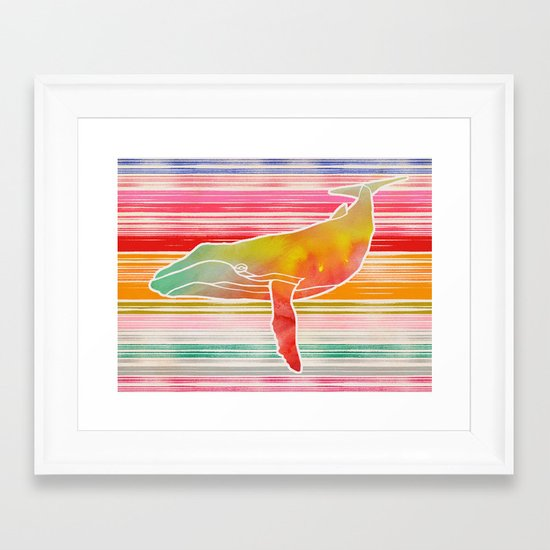Whale Collage by Garima and Jacqueline Framed Art Print
