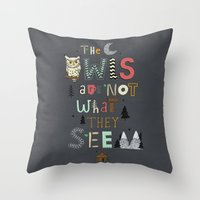 Not What They Seem Throw Pillow