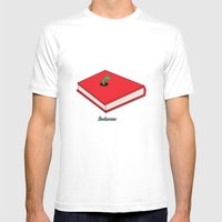 Bookworms Mens Fitted Tee White SMALL