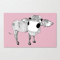 Cowface Canvas Print