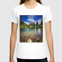 Mountain Lake Womens Fitted Tee White SMALL
