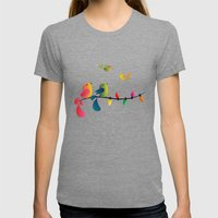 Fly High, My Babies - Me… Womens Fitted Tee Tri-Grey SMALL