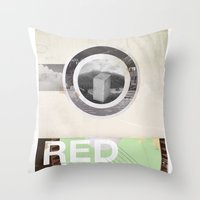 The RED project coming soon Throw Pillow
