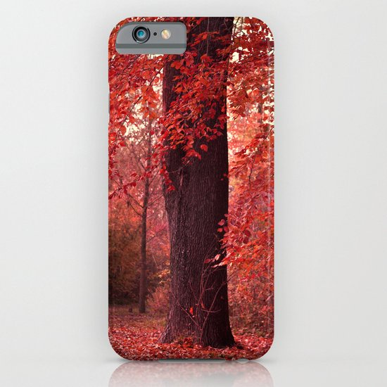 red wood iPhone & iPod Case
