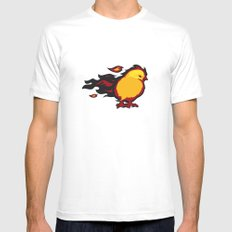 Firechicken SMALL White Mens Fitted Tee