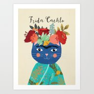 Frida Cathlo Art Print