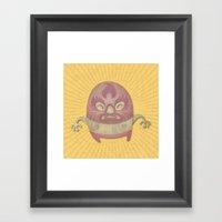 Death Luchador Framed Art Print