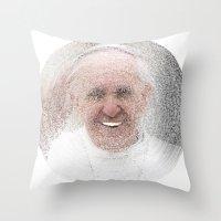 ArcFace - Papa Francesco Throw Pillow
