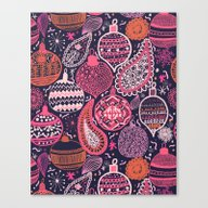 Bohemian Christmas Canvas Print