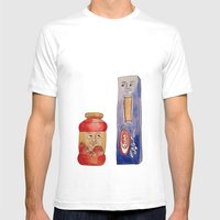 Saucy Friendship Mens Fitted Tee White SMALL