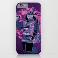 iPhone & iPod Case featuring Samurai Kitty by MUSENYO