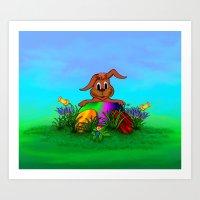 Easter Rabbit - Spring A… Art Print