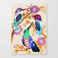 Hummingbird Floral Song Canvas Print