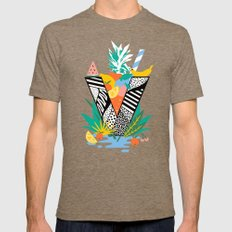Vegan Fruit Bowl  Mens Fitted Tee Tri-Coffee SMALL
