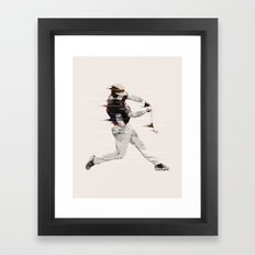 Baseball Player Framed Art Print