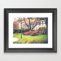 In Park Framed Art Print