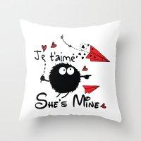 She's Mine Throw Pillow