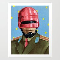 Pink Robocop Art Print