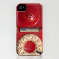 iPhone 4s & iPhone 4 Cases featuring Hotline by bomobob