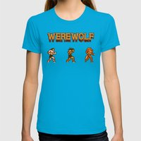 Unleash The Beast- Werew… Womens Fitted Tee Teal SMALL