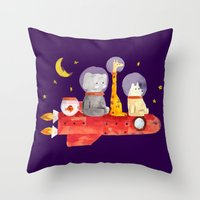 Let's All Go To Mars Throw Pillow
