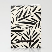 Not So Black and white leaves Stationery Cards