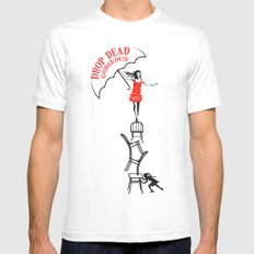 drop dead gorgeous - fall Mens Fitted Tee White SMALL