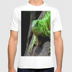 The Lizard King of Aruba White SMALL Mens Fitted Tee