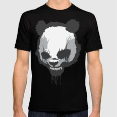 Dirty Angry Panda Black Mens Fitted Tee SMALL