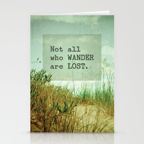Not All Who Wander Stationery Card