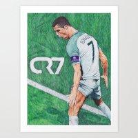 CR7 PORTUGAL DRAWING Art Print